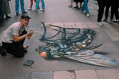 Street Painting Illusion