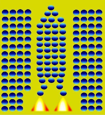 rocket launching optical illusions
