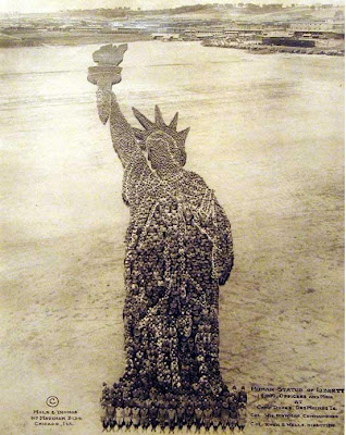 Man made statue of liberty