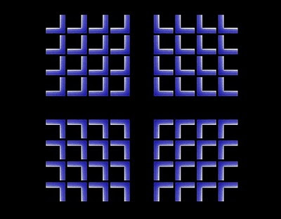 Inward moving square Illusion