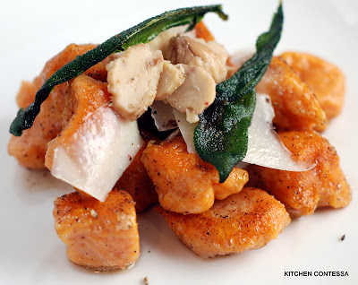 Sweet Potato Gnocchi in a Brown Butter Gorgonzola Sauce with Crispy ...
