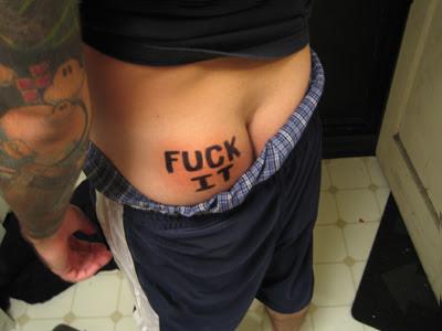 Gambar-Gambar Tato Di Pantat (crazy butt tattoo)