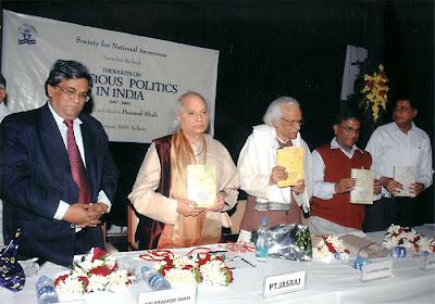Pandit Jasraj, Pramod Shah and  Dr. Krishn Bihari Mishra