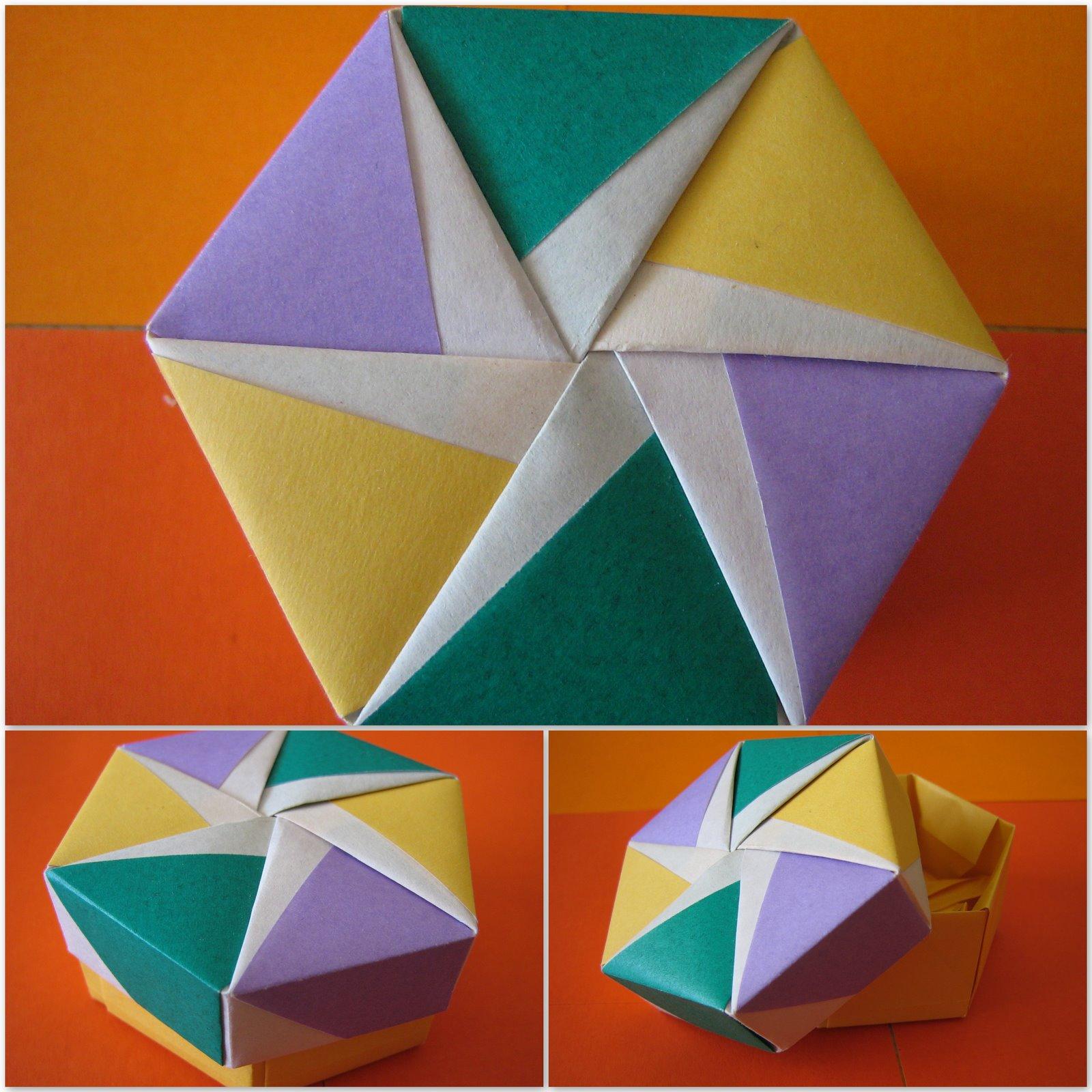 Caixa Hexagonal Com Tampa Catavento
