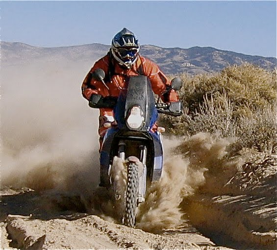Chasing friends in the Nevada desert silt.
