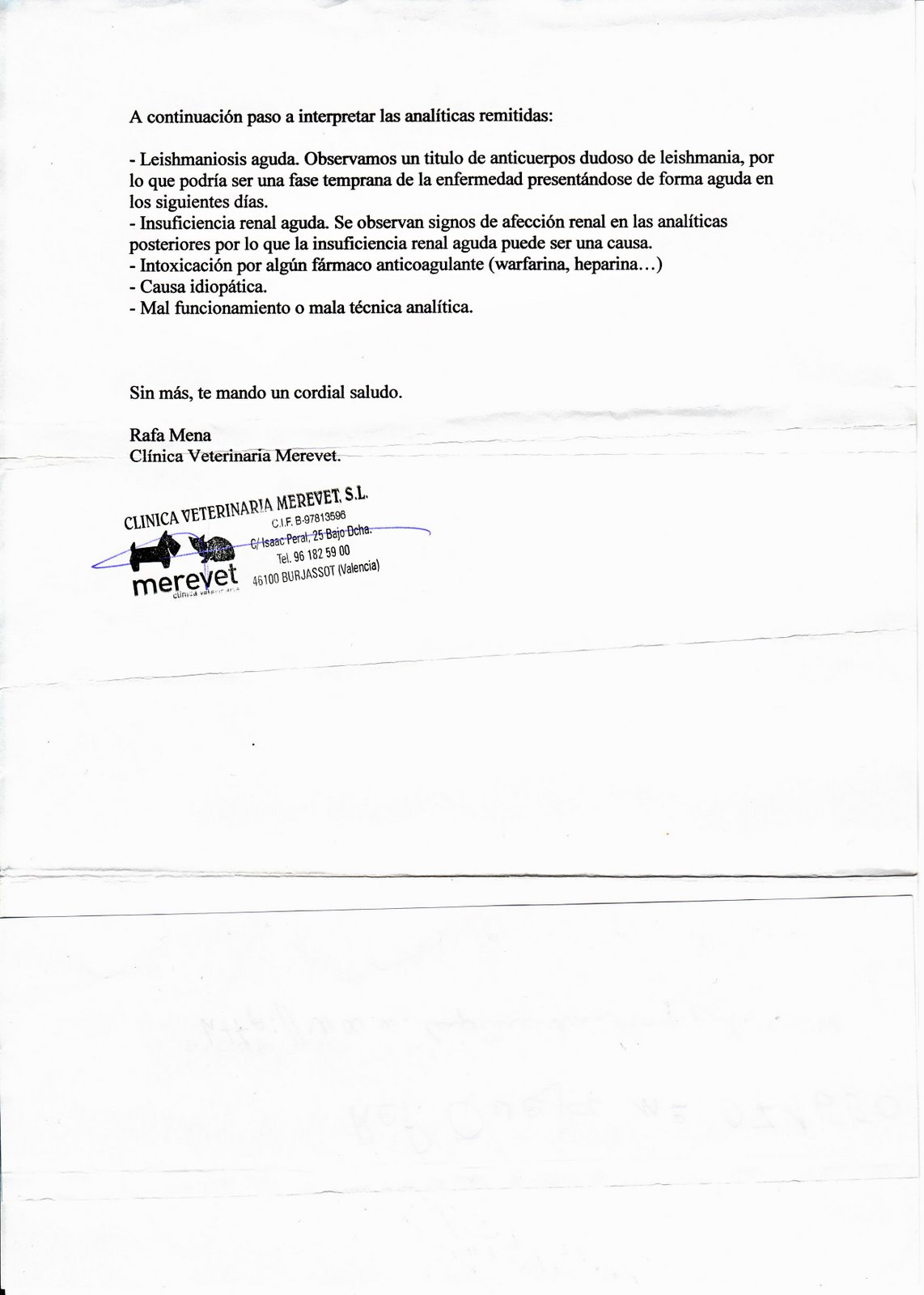 Certificado Veterinario