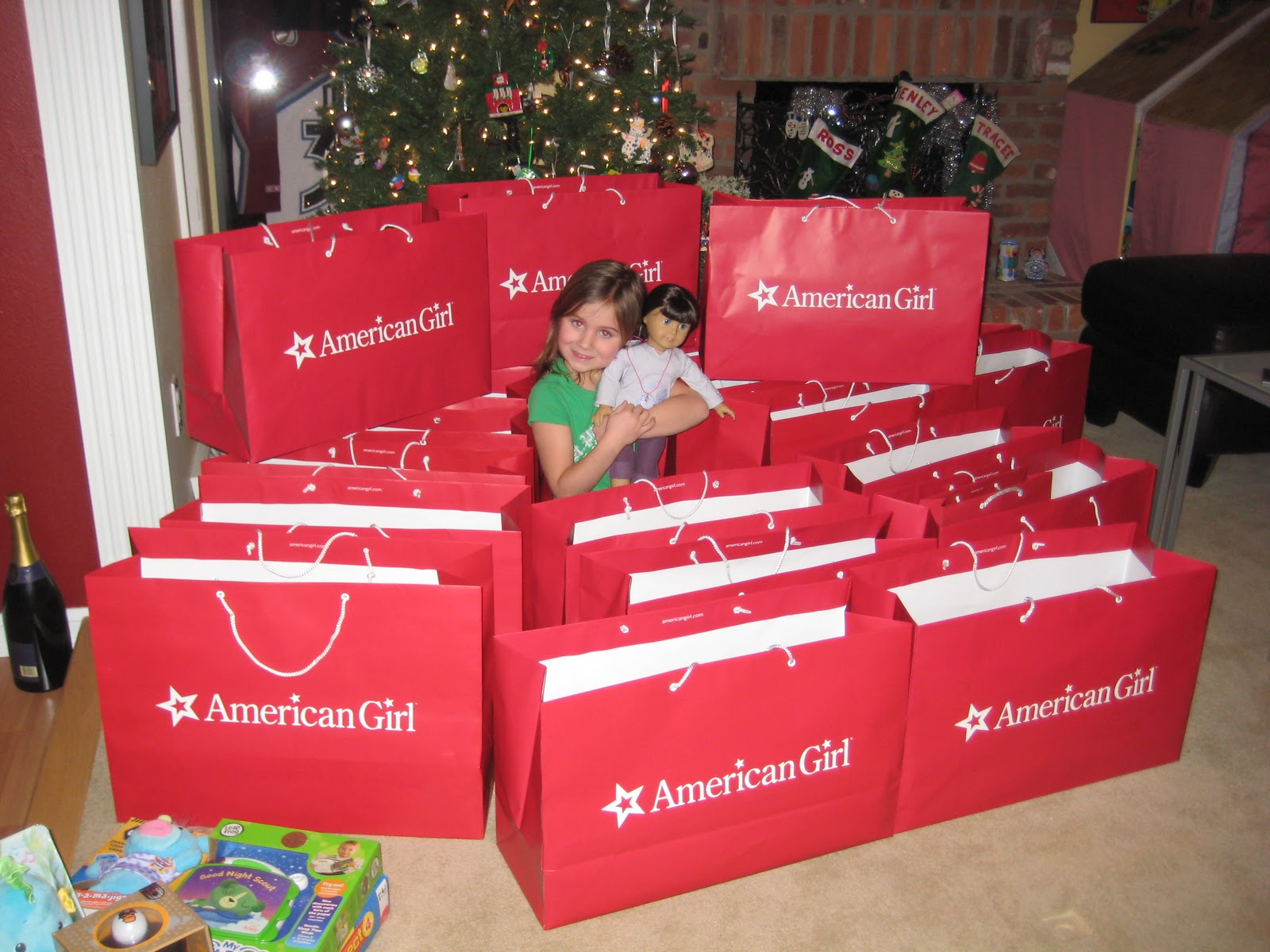 ps check out my doll from jennifer at the american girl store in lone tree appearing in the picture with me - Christmas Decorations For American Girl Dolls