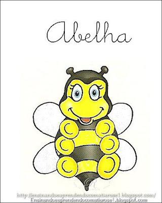 Abelha+1 Alfabeto aprendendo com os animais para crianças