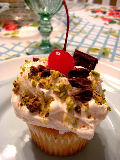 the art of happiness: A Window Seat and Spumoni Cupcakes