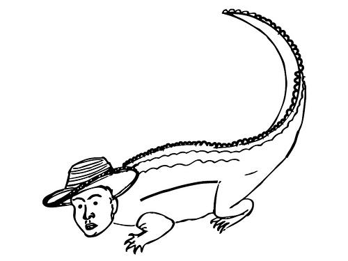 Dibujo de hombre caiman - Imagui
