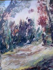 paesaggio ligure di franca rossi grande amica e fantastica pittrice unica