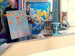 con l,artista marco gilioli nel suo atelie