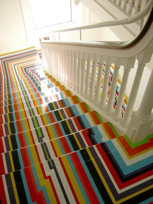 David Dangerous Rainbow Stairs Painted Two Examples