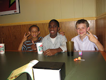 me clay and noah at round table!!