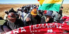 la traición de los mineros no quedará impune. hicieron fracasar la marcha de Caracollo