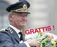 al cumplir 62 años el rey carlos XVI gustavo recibió sendos ramos