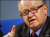 la personalidad de martti ahtisaari se impuso sobre la chatura moral de otros