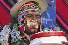 comió torta a pesar de ser un bocado oligarca y propio de los ricos
