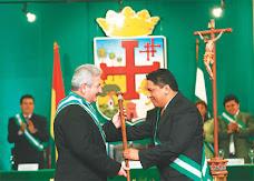 finalmente Rubén Costas jura como Gobernador por el Departamento de Santa Cruz