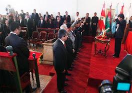 en la Casa de la Libertad Evo tomó la posesión de los nueve gobernadores