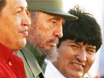 Chávez hizo llegar a Castro miles de toneladas de comida podrida, Evo envía a Castro