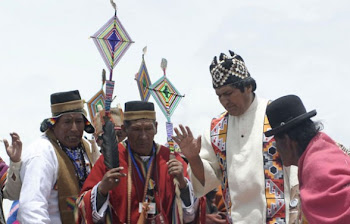 """""""el amauta"""" vale decir el """"sacerdote aymara"""" que le confirió el mando a Evo es un narcotraficante"""