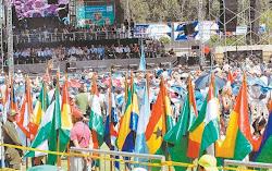 la presencia de la tricolor boliviana debería ser el panorama común