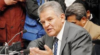 punto alto. Rolando Villena defensor del pueblo acusó directamente a la Policía del asesinato...