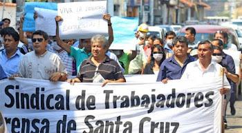 tienen todo el apoyo del mundo libre los periodistas bolivianos en huelga