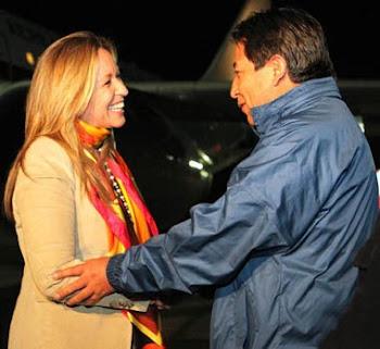 Trinidad Jiménez canciller de España se encuentra en Bolivia hará inversiones si hay seguridad