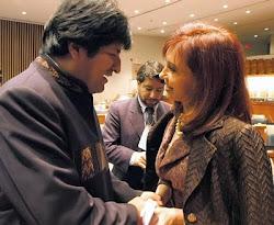 """luego de lo publicado en """"filtraciones Wiki..."""" vendrá un enfriamiento entre Evo y Cristina"""
