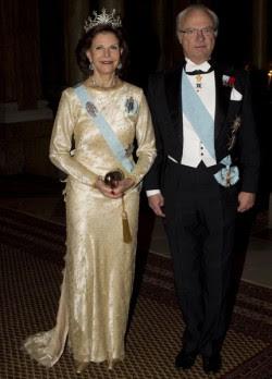 la pareja real Carlos Gustavo y Silvia recibieron en el Palacio Real a los laureados del Nobel