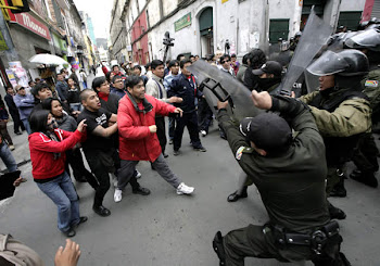 enfrentamientos en todas las ciudades incluyendo El Alto por el gasolinazo