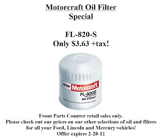 Gullo Ford Parts: Cheap Motorcraft Oil Filters at Gullo Ford! FL-820-S