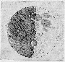 DIBUJO DE LA LUNA REALIZADO POR GALILEO