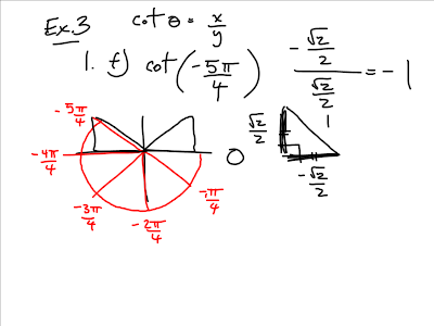 how to find exact value of trig function