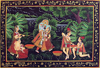 Radha Krishna Holi Painting