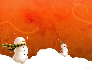 Snowman desktop wallpaper