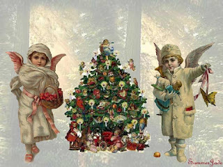 Victorian Christmas Wallpaper