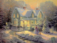 Thomas Kinkade Christmas T Themes
