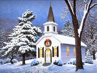 Beautiful Christmas Scenes Wallpaper For Computer