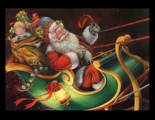 Pictures of santa sleigh ride