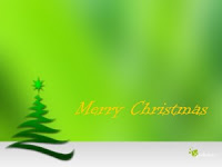 Merry Christmas Green Tree Wallpaper