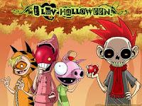 Cute Halloween Character Wallpaper