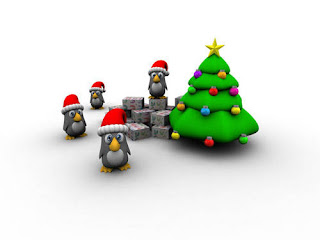 Christmas Penguin Wallpapers