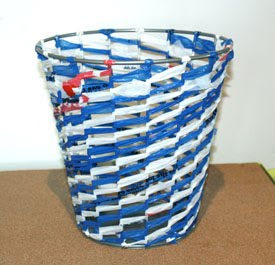 I'm back this week with a DIY on my first ReMake It! trash can project: