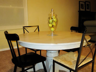 how to paint a dinning room table