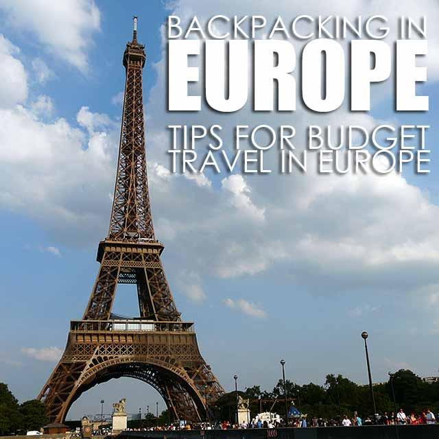 traveltips europe budget