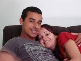 Meu filho Heliton e sua esposa Katia.
