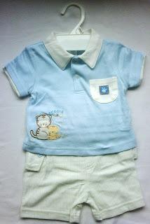 Stelan baju bayi laki-laki Bon Bebe